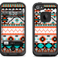 Lifeproof iPhone 5 Case Decal Skin Cover - Native Pattern - Lifeproof iPhone 4 Case Decal