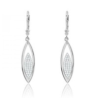 Cubic Zirconia And Sterling Silver Earrings