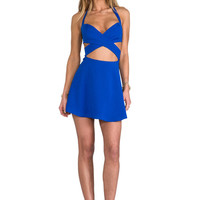 Naven x REVOLVE Criss Cross Cut Circle Skirt Dress in Cobalt