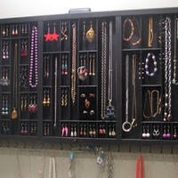 Jewelry Display with glass doors and ring cubby