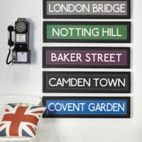Large London Landmark Street Signs