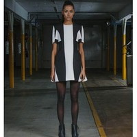 FINDERS KEEPERS Fool Proof Dress BLACK/ IVORY