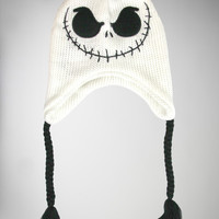 Nightmare Before Christmas Reversible Stripe Laplander Hat