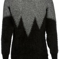 Black/Silver Two Tone Mohair Jumper | Desire | Knitwear