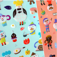 Bubble Friends Sticker Set