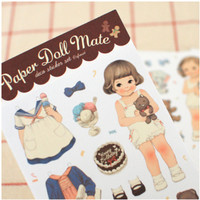 Paper Doll Deco Sticker Set