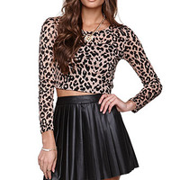 LA Hearts Animal Mesh Cropped Top at PacSun.com