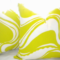 Outdoor Pillow cover -Trina Turk carmel coastline sulfur pillow cover- Size options available