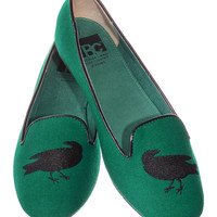 Wicked Raven Smoking Slipper Flats