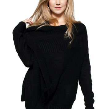 Zipper Wrap Sweater