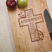 Personalized Cutting Board, MAPLE Cutting Board - Any Occasion Gift, Wedding Gift - Anniversary Gift - Engraved Wood Cutting Board