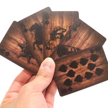 Wood Deck of Cards - Color