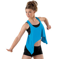 Racerback Fly-Away Crop Tank; Urban Groove