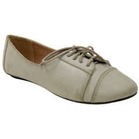 Grey Women's Vegan Oxford Shoes