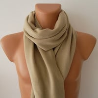 Beige Christmas Gift Men's Fashion Scarf, Men's Accessories, Neck Warmer, 2014