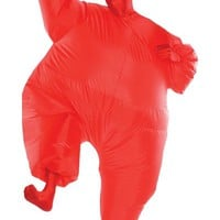 Adult Red Inflatable Morphsuit- Party City