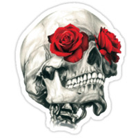 Rose Eye Skull T-Shirts & Hoodies