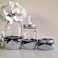 Mason Jars, Bathroom decor, Home decor, Housewares, Soap dispenser, Gift set