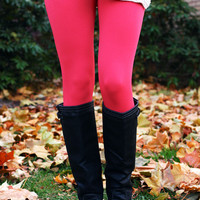 Legs For Days Leggings - Coral