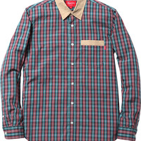 Supreme Contrast Collar Plaid Shirt