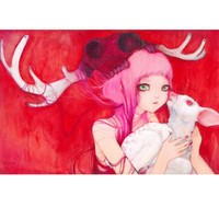 Gentle Fawns Giclee Print by Camilla D'Errico at eu.art.com