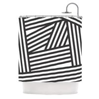 "Louise Machado ""Black Stripes"" Shower Curtain 