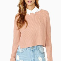 Study Break Crop Sweater