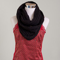 """Cowl Black Lace 25"""" round spring fall"""