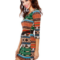 BOHEMIAN KNIT BELT DRESS