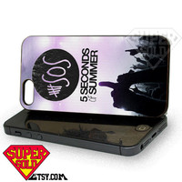 5SOS Purple Hands Up - iPhone 4/4s/5/5s/5c Case - Samsung Galaxy S2/S3/S4 Case - Black or White
