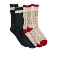 AEO Men's Marled Sock 2-pack (Oatmeal)