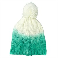 Amiee Lynn Juniors Dip Dye Cable Knit Hat at Von Maur