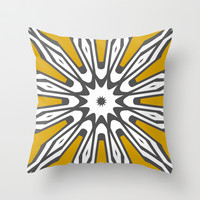 Mod Mustard Throw Pillow by Abstracts by Josrick