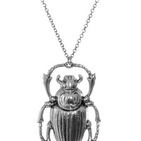 Shining Scarab Beetle Necklace