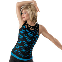 Seamless Slashed Ripped Tank Top - Balera