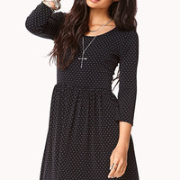 Dainty Dot Fit & Flare Dress
