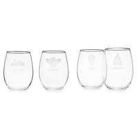 """Under The Influence"" Stemless Wine Glass Set"