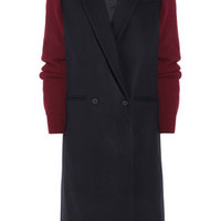 Sophie Hulme Contrast-sleeved wool coat – 60% at THE OUTNET.COM