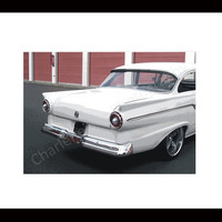 Ford 1957 Custom White Classic Car Gift Car Enthusiast Photograph Digital Print Signed Matte 8 x 10