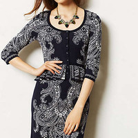 Paisley Peplum Dress