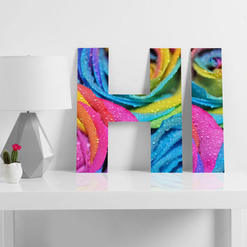 Lisa Argyropoulos Rainbow Swirl Decorative Letters