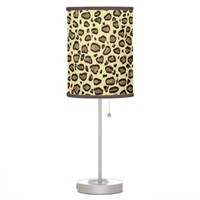 Natural Leopard Animal Print Pattern Table Lamp