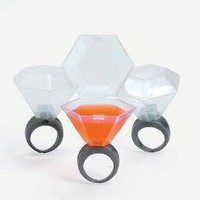 Plastic Wedding Ring Shot Glasses 