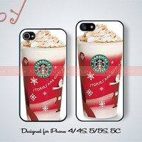 Starbucks Coffee iPhone 5 case iPhone 5s case Christmas iPhone 5c case Christmas iPhone 4 iPhone 4s case Christmas gift iPhone case JOY-205