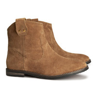 Suede Boots - from H&M