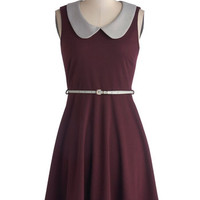 Work to Play Dress in Eggplant