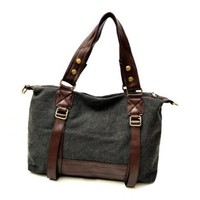 Mixing Color Canvas Shoulder Bag Handbag
