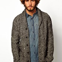 Denim & Supply Ralph Lauren Shawl Cardigan with Cable