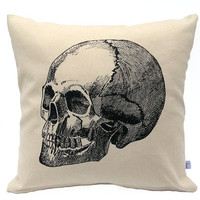 Skull Pillow - 16 inch Decorative Throw Pillow