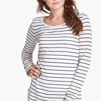 Rubbish® Stripe Long Sleeve Tee (Juniors) | Nordstrom